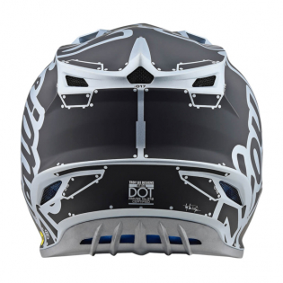 Troy Lee Designs SE4 Factory Silver Polyacrylite Helmet Image 2