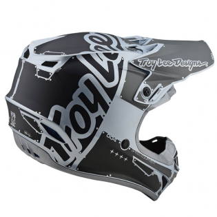 Troy Lee Designs SE4 Factory Silver Polyacrylite Helmet Image 3