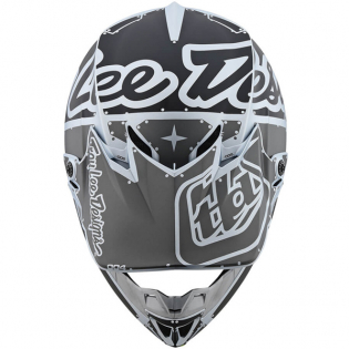 Troy Lee Designs SE4 Factory Silver Polyacrylite Helmet Image 4