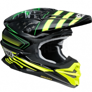 Shoei VFX-WR Grant3 Black Flou Yellow TC3 Helmet Image 2