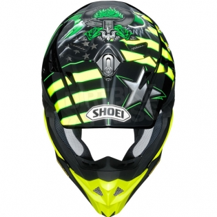 Shoei VFX-WR Grant3 Black Flou Yellow TC3 Helmet Image 3