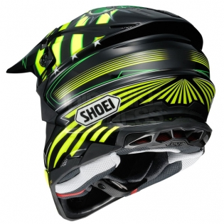 Shoei VFX-WR Grant3 Black Flou Yellow TC3 Helmet Image 4