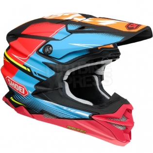 Shoei VFX-WR Zinger Blue Orange Red TC10 Helmet Image 2