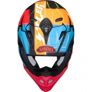 Shoei VFX-WR Zinger Blue Orange Red TC10 Helmet Image 3