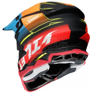 Shoei VFX-WR Zinger Blue Orange Red TC10 Helmet Image 4