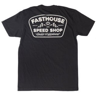 Fasthouse Grease Monkey Black T Shirt Image 3