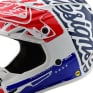 Troy Lee Designs SE4 Factory White Blue Polyacrylite Helmet