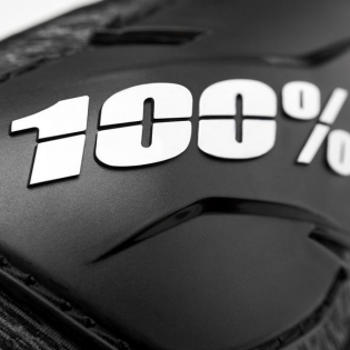 100% Fortis Black Elbow Guards Image 2
