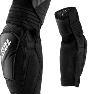 100% Fortis Black Elbow Guards Image 3