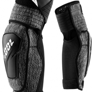 100% Fortis Grey Heather Elbow Guards Image 3