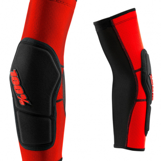 100% Ridecamp Red Black Elbow Guards Image 4