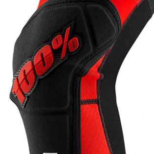 100% Ridecamp Red Black Knee Guards Image 3