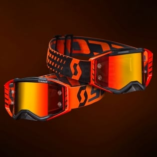 Scott Prospect Black Orange Chrome Goggles Image 2