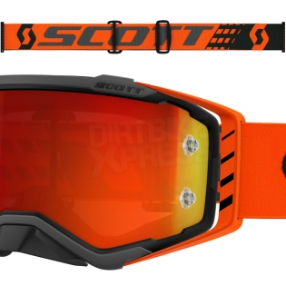 Scott Prospect Black Orange Chrome Goggles Image 3