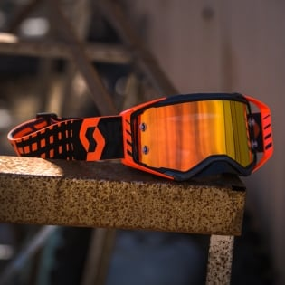 Scott Prospect Black Orange Chrome Goggles Image 4