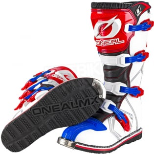 ONeal Rider Blue Red White Boots Image 2
