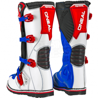 ONeal Rider Blue Red White Boots Image 4