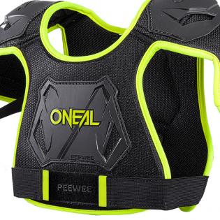 ONeal Pee Wee Kids Neon Yellow Chest Guard Image 2