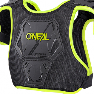 ONeal Pee Wee Kids Neon Yellow Chest Guard Image 4