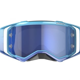 Scott Prospect Blue White Electric Blue Chrome Goggles Image 2