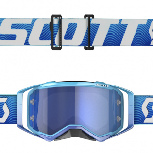 Scott Prospect Blue White Electric Blue Chrome Goggles Image 4