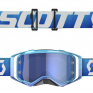 Scott Prospect Blue White Electric Blue Chrome Goggles