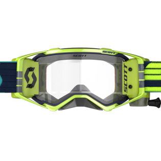 Scott Prospect WFS Blue Yellow Clear Roll Off Goggles Image 2