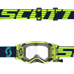 Scott Prospect WFS Blue Yellow Clear Roll Off Goggles Image 3