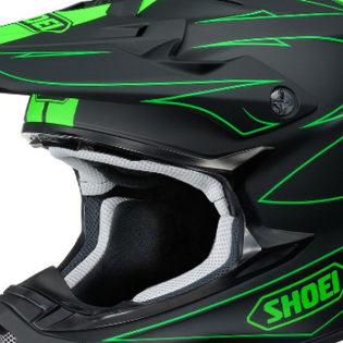 Shoei VFXW Hectic Matt Black Green TC4 Helmet Image 2