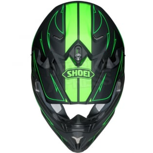 Shoei VFXW Hectic Matt Black Green TC4 Helmet Image 3