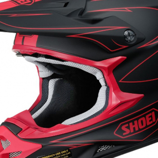 Shoei VFXW Hectic Matt Black Red TC1 Helmet Image 2