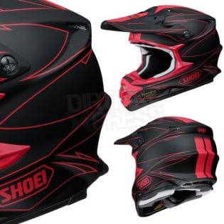 Shoei VFXW Hectic Matt Black Red TC1 Helmet Image 4