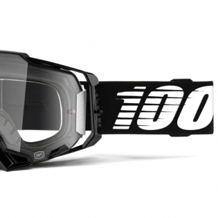 100% Armega Black Essential Clear Lens Goggles Image 3