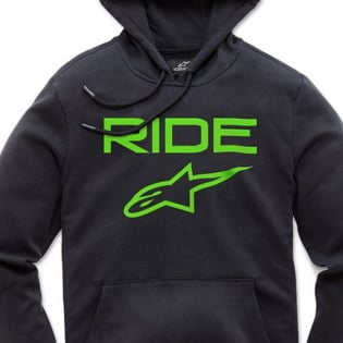 Alpinestars Ride 2.0 Black Green Hoodie Image 2