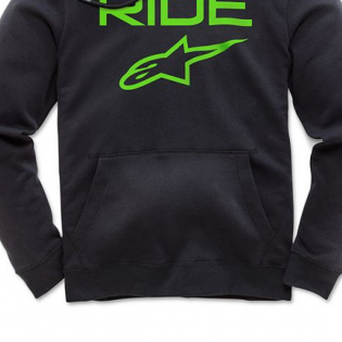 Alpinestars Ride 2.0 Black Green Hoodie Image 4