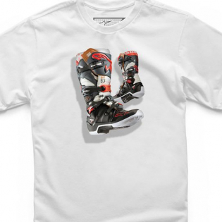 Alpinestars Kids Tech 7 Boot White T Shirt Image 2