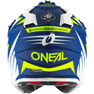 ONeal 2 Series Spyde 2.0 Blue White Neon Yellow Helmet Image 2
