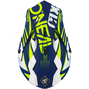 ONeal 2 Series Spyde 2.0 Blue White Neon Yellow Helmet Image 3