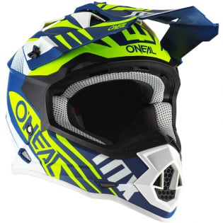 ONeal 2 Series Spyde 2.0 Blue White Neon Yellow Helmet Image 4