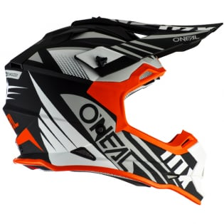 ONeal 2 Series Spyde 2.0 Black White Orange Helmet Image 2