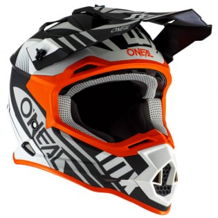 ONeal 2 Series Spyde 2.0 Black White Orange Helmet Image 3