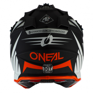 ONeal 2 Series Spyde 2.0 Black White Orange Helmet Image 4