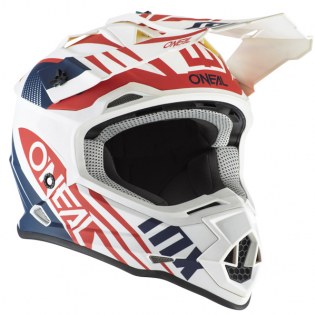 ONeal 2 Series Spyde 2.0 White Blue Red Helmet Image 4
