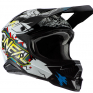 ONeal 3 Series Villain 2.0 White Multi Motocross Helmet