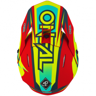 ONeal 3 Series Riff 2.0 Red Neon Yellow Motocross Helmet Image 2