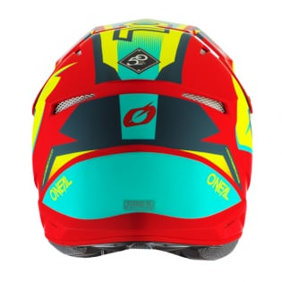 ONeal 3 Series Riff 2.0 Red Neon Yellow Motocross Helmet Image 3