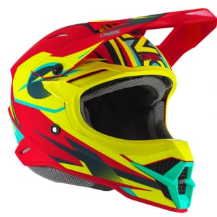 ONeal 3 Series Riff 2.0 Red Neon Yellow Motocross Helmet Image 4