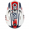 ONeal 3 Series Riff 2.0 White Blue Motocross Helmet