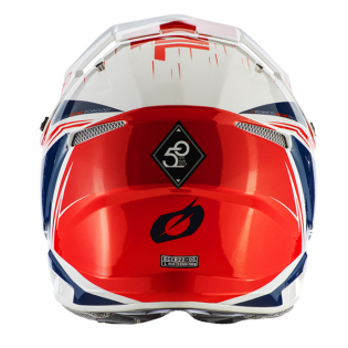 ONeal 3 Series Stardust White Blue Red Motocross Helmet Image 3