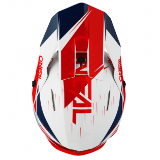 ONeal 3 Series Stardust White Blue Red Motocross Helmet Image 4